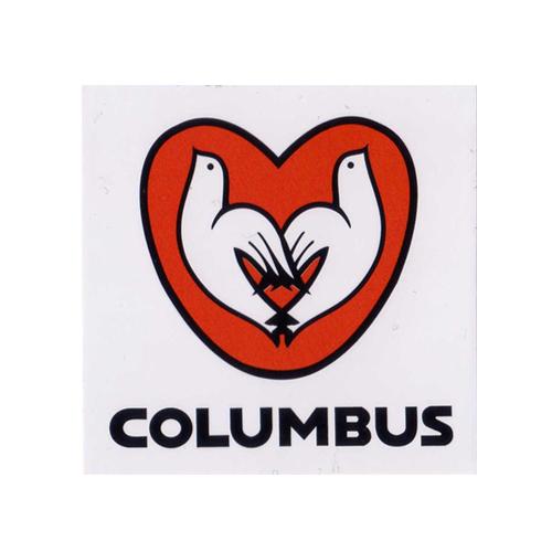 COLUMBUS(コロンバス)ステッカー(Bデザイン / ホワイト / レッド)