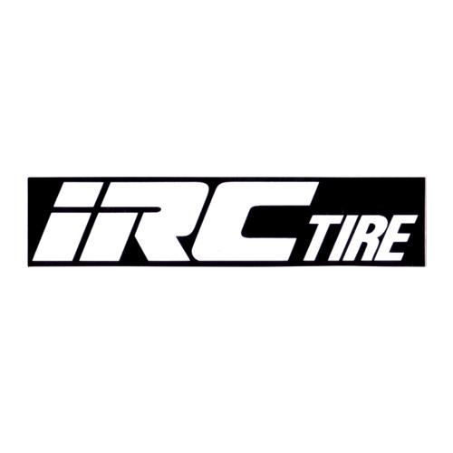 IRC TIRE(アイアールシータイヤ)ロゴステッカー(W11.2 / H2.5 / ブラック / ホワイトロゴ)