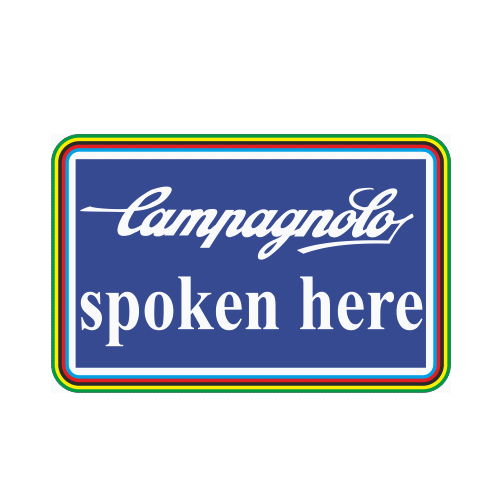 CAMPAGNOLO(カンパニョーロ)spoken here ロゴステッカー