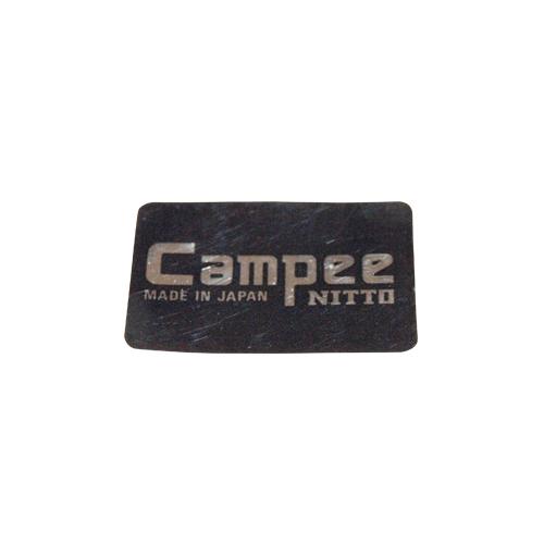 NITTO(日東ハンドル)Campee ロゴステッカー(ブラック / シルバーロゴ)
