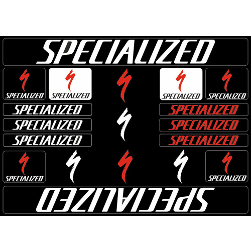 SPECIALIZED(スペシャライズド)ステッカーセット(Aデザイン / ホワイト)