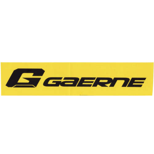 GAERNE(ガエルネ)ロゴステッカー(イエロー / ブラックロゴ)
