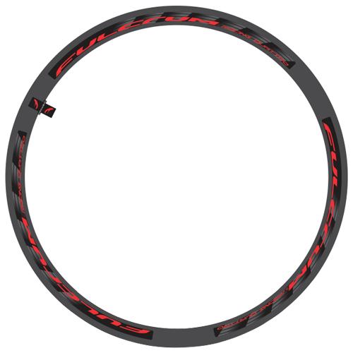 FULCRUM(フルクラム)RACING QUATTRO(レーシングクアトロ)ホイール用ロゴステッカー(リム1本分セット / レッド)