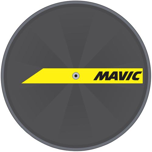 MAVIC(マビック)DISCホイールステッカー(イエロー)