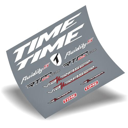 TIME(タイム)Fluidity(フルイディティ)カーボンフレーム用ステッカーセット(ホワイト)