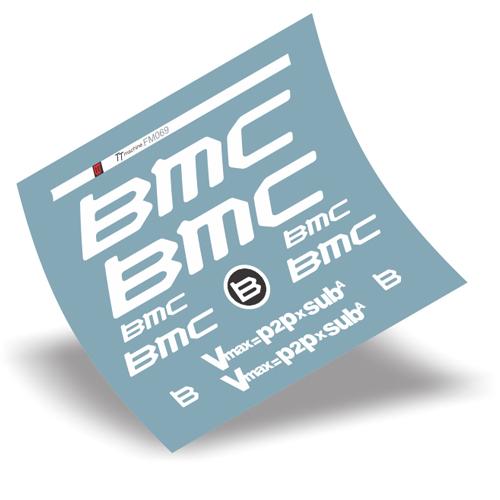 BMC(ビーエムシー)TT Machine フレーム用ステッカーセット(ホワイト)