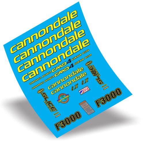 cannondale(キャノンデール)ステッカーセット(F3000 CAAD 4 MTBフレーム用 / イエロー)