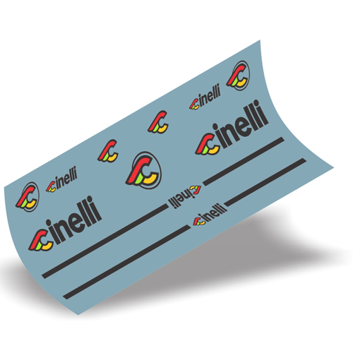 Cinelli(チネリ)PISTA(ピスタ)フレーム用ステッカーセット(ブラック)