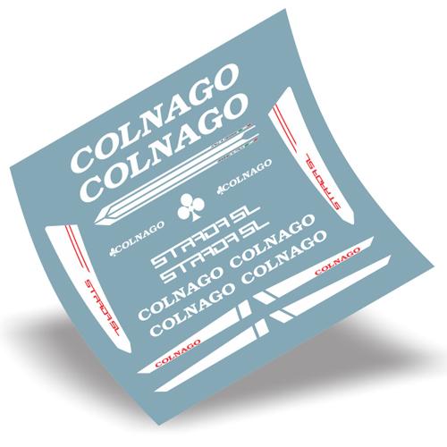 COLNAGO(コルナゴ)STRADA(ストラダ)SL フレーム用ステッカーセット(ホワイト)