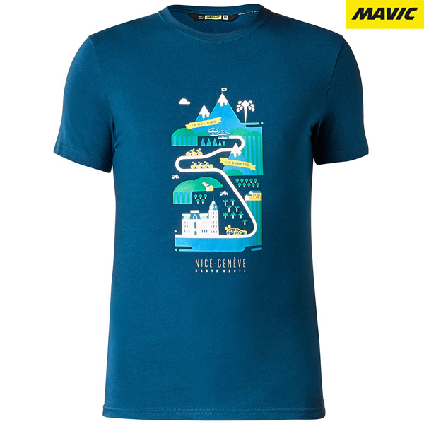 MAVIC(マビック)BRAIN(ブレイン)Tシャツ(ポセイドンブルー)