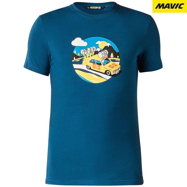 MAVIC(マビック)SSC YELLOW CAR Tシャツ(ポセイドンブルー)