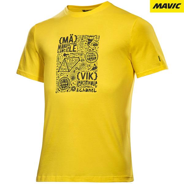 MAVIC(マビック)BRAIN(ブレイン)Tシャツ(イエロー)