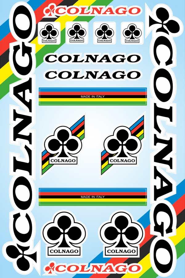 COLNAGO(コルナゴ)ステッカーセット(Aデザイン / ブラック)