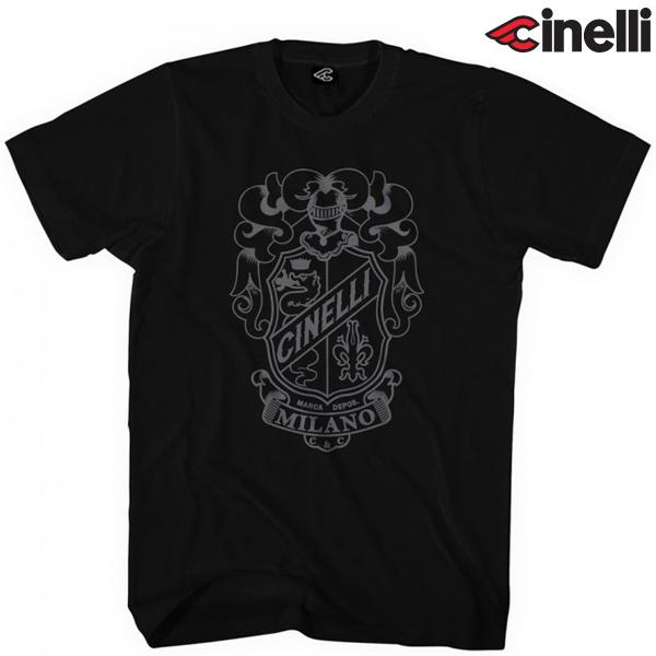 Cinelli(チネリ)Tシャツ(CREST(クレスト) / ブラック)