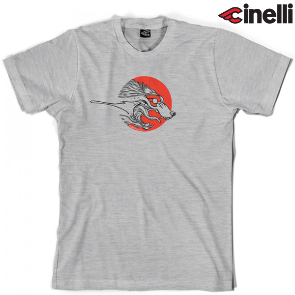Cinelli(チネリ)Tシャツ(THE WOLF(ザウルフ) / グレー)
