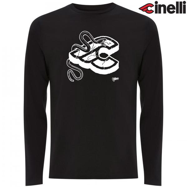 Cinelli(チネリ)ロングスリーブTシャツ(MIKE GIANT / ブラック)