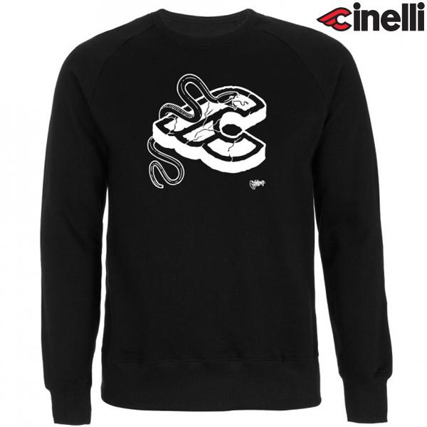 Cinelli(チネリ)CREW スウェットシャツ(MIKE GIANT(マイクジャイアント) / ブラック)