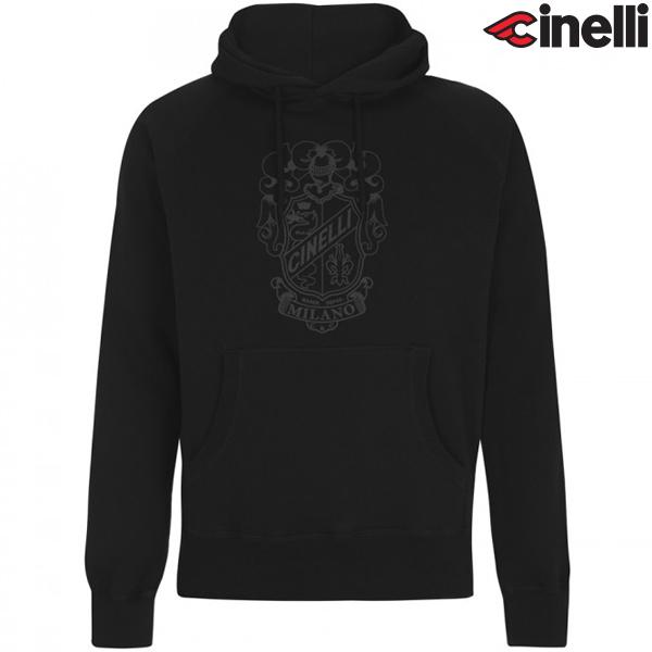 Cinelli(チネリ)HOODIE(フーディ)スウェットシャツ(CREST(クレスト) / ブラック)