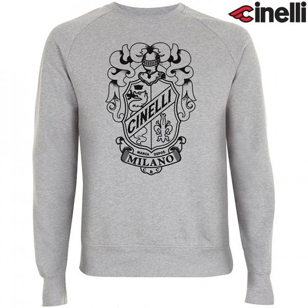 Cinelli(チネリ)CREW NECK(クルーネック)スウェットシャツ(CREST(クレスト) / グレー)