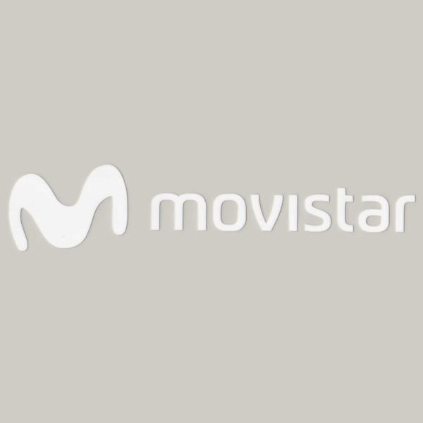 movistar(モビスター)ロゴステッカー(Aデザイン / ホワイト)