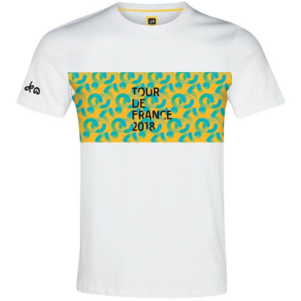 TOUR de FRANCE(ツールドフランス)Tシャツ(Poster(ポスター) / ホワイト)