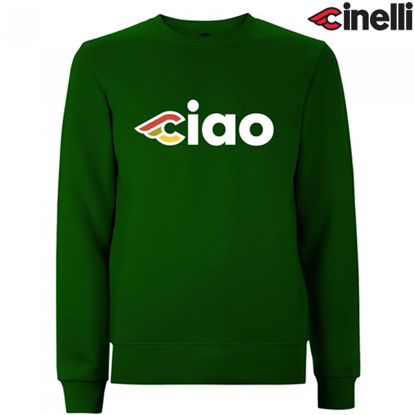 Cinelli(チネリ)CREW NECK(クルーネック)スウェットシャツ(CIAO(チャオ) / グリーン)