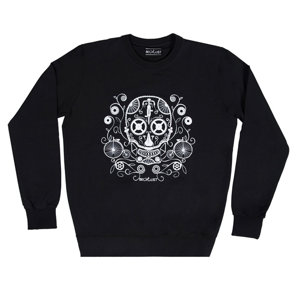BeCyclist(ビーサイクリスト)SKULL(スカル)スウェットシャツ(ブラック)