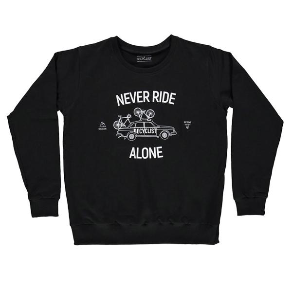 BeCyclist(ビーサイクリスト)NEVER RIDE(ネバーライド)スウェットシャツ(ブラック)