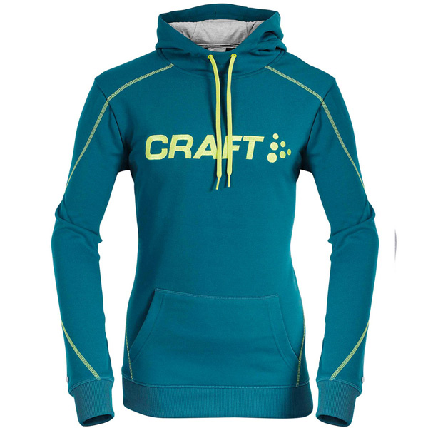 CRAFT(クラフト)ロゴスウェットシャツ(エメラルドグリーン / イエローライン)