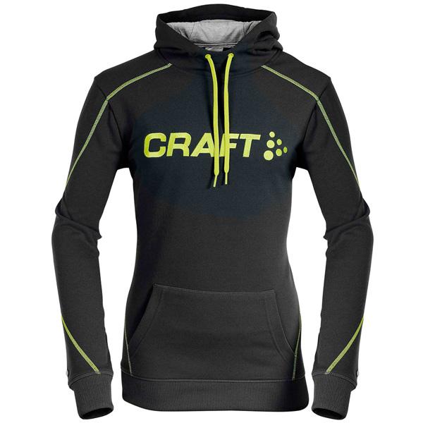 CRAFT(クラフト)ロゴスウェットシャツ(ブラック / イエローライン)