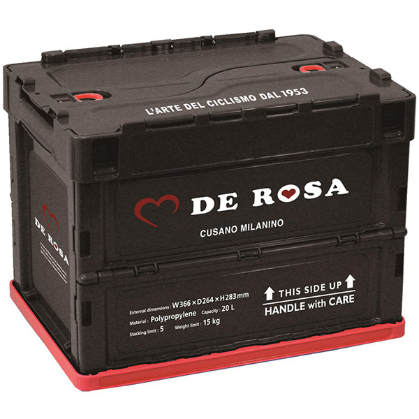 DE ROSA(デローザ)折り畳みコンテナ(ブラック)