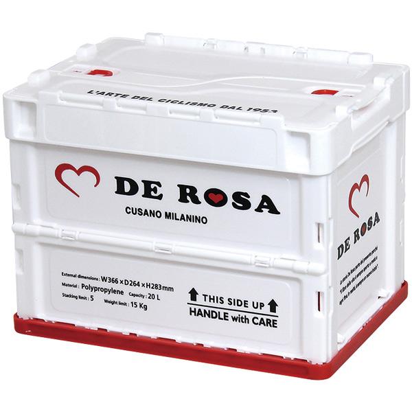 DE ROSA(デローザ)折り畳みコンテナ(ホワイト)