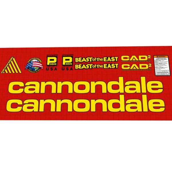 CANNONDALE(キャノンデール)フレームステッカーセット(BEAST OF THE EAST(ビースト オブ ザ イースト))
