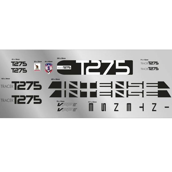 INTENSE(インテンス)フレームステッカーセット(TRACER(トレーサー)T275 / ブラック)