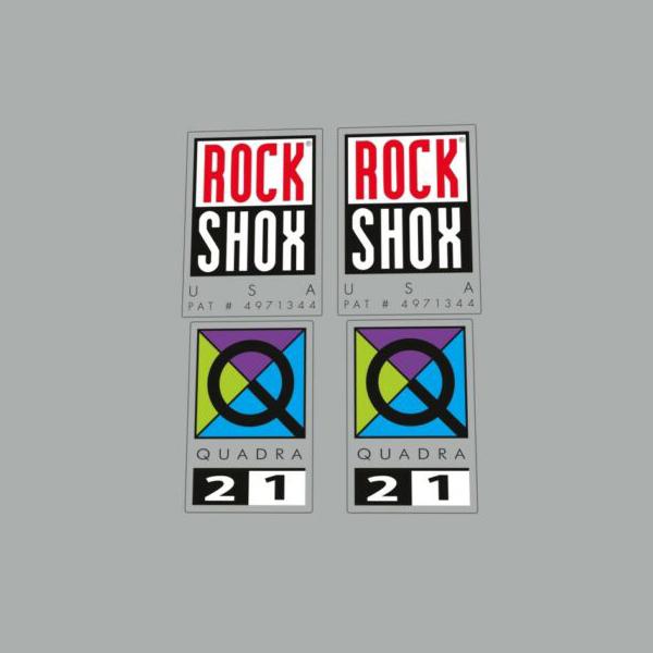 ROCK SHOX(ロックショックス)サスペンション ステッカーセット(QUADRA(クアドラ)21)