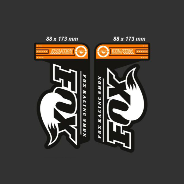FOX(フォックス)サスペンション ステッカーセット(EVOLUTION SERIES 32 FLOAT / オレンジ)
