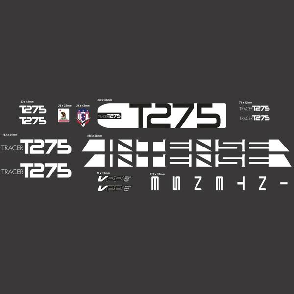 INTENSE(インテンス)フレームステッカーセット(TRACER(トレーサー)T275 / ホワイト)