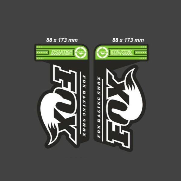 FOX(フォックス)サスペンション ステッカーセット(EVOLUTION SERIES 32 FLOAT)