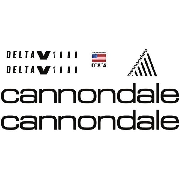 CANNONDALE(キャノンデール)サスペンション ステッカーセット(DELTA(デルタ)V1000 / ブラック)
