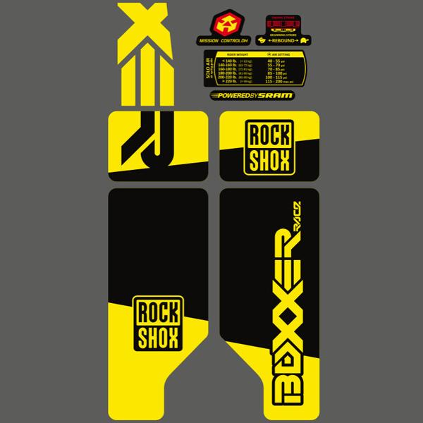 ROCK SHOX(ロックショックス)サスペンション ステッカーセット(BOXXER(ボクサー)2010 / ネオンイエロー)