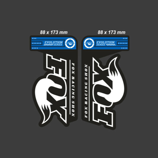 FOX(フォックス)サスペンション ステッカーセット(EVOLUTION SERIES 32 FLOAT / ブルー)
