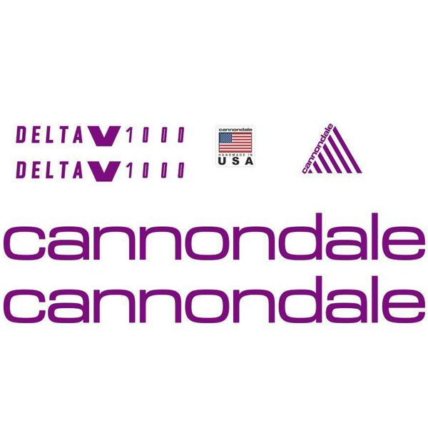 CANNONDALE(キャノンデール)フレームステッカーセット(DELTA(デルタ)V1000 / バイオレット)