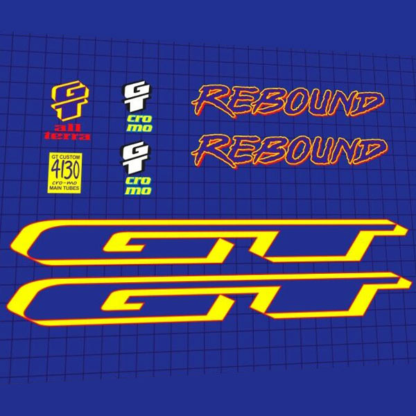 GT(ジーティ)フレームステッカーセット(REBOUND(リバウンド) / 1995)