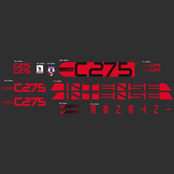 INTENSE(インテンス)フレームステッカーセット(C275 / レッド)