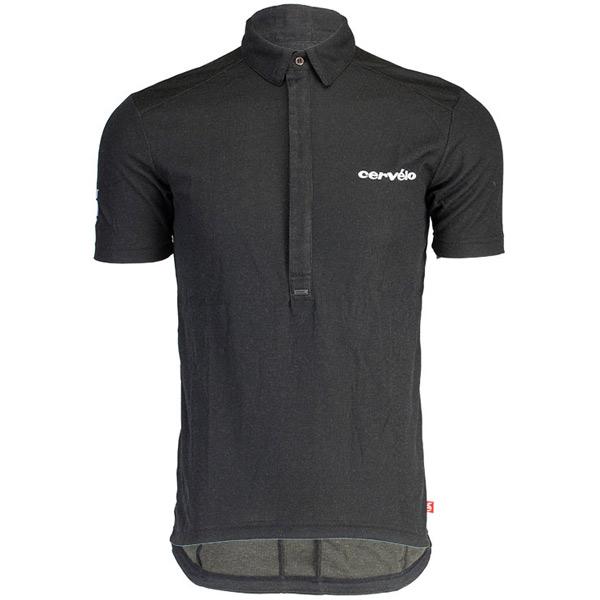 cervelo(サーヴェロ)Coolmax Merino Polo(クールマックス メリノポロ)シャツ(ブラック)