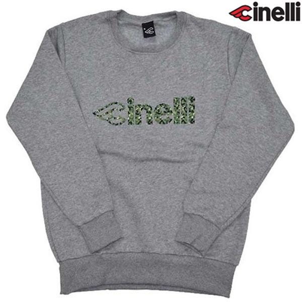Cinelli(チネリ)CORK CAMO CREW(コルク カモ クルー)スウェットシャツ(グレー)