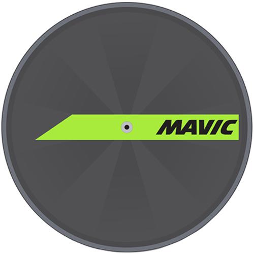 MAVIC(マビック)DISCホイールステッカー(ライムグリーン)