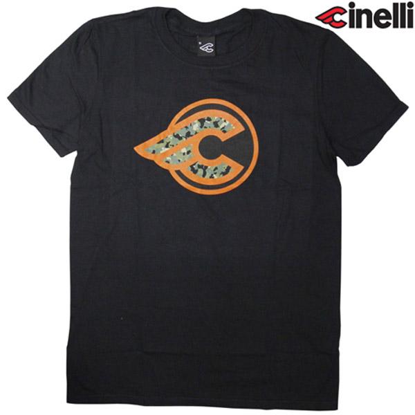 Cinelli(チネリ)WINGED CORK CAMO(ウインジェッド コルクカモ)Tシャツ(ブラック)