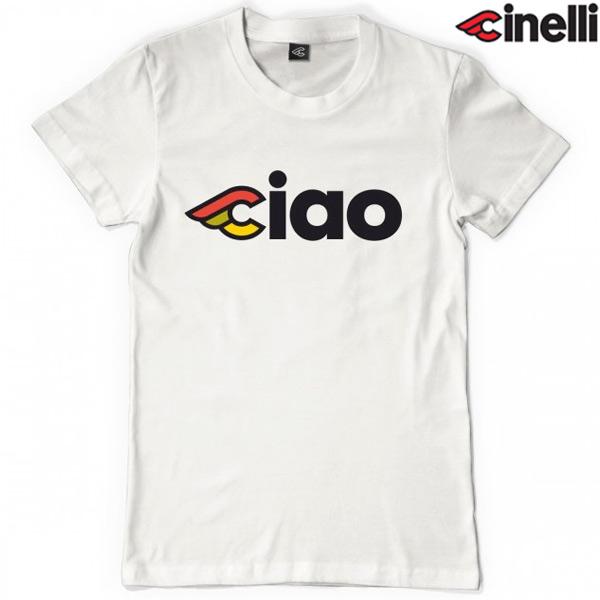 Cinelli(チネリ)CIAO DONNA(チャオ ドンナ)Tシャツ(ホワイト / 女性向)