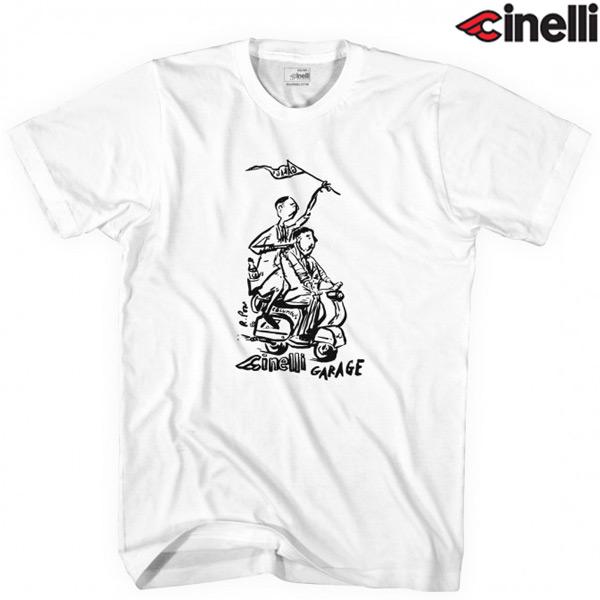 Cinelli(チネリ)Russ Pope GARAGE(ラスポープ ガレージ)Tシャツ(ホワイト)